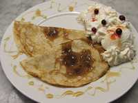 Pancakes with ice-cream