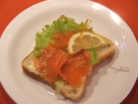 Fish sandwich troutsalmon